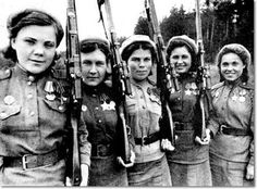 Red Army Women. Snipers.
