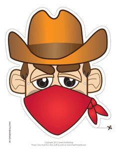 Máscaras de Bandidos del Lejano Oeste para Imprimir Gratis. | Ideas y material gratis para fiestas y celebraciones Oh My Fiesta!