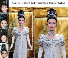 Audrey Hepburn My Fair Lady doll repaint steps by *noeling on deviantART
