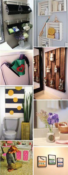 Ideias & Inspirações: Dê aquele toque especial ao seu banheiros
