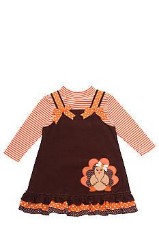 3260a6b05f0 Rare Editions Turkey Jumper Dress Toddler Girls Toddler Girl Dresses