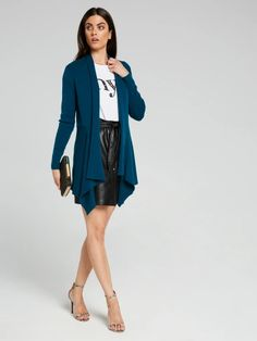 Knitwear & Cardigans for Women - Cardigans, Sweaters & Navy Blazers, High Neck Top, Workwear Fashion, Tweed Skirt, Roll Neck, Cardigans For Women, Occasion Dresses, New Woman, Navy And White