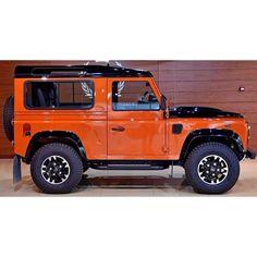Defender 90 luxury 2016. Exterior. Orange-Black.