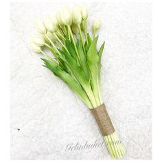 Beyaz Lale gelin buketi çiçeği