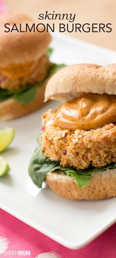 You have to try these skinny mini salmon burgers out for dinner one night