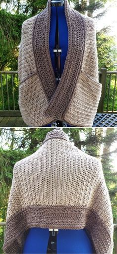 Crochet Wrap Pattern, Free Crochet, Knit Crochet, Crochet Patterns, Crochet Crafts, Yarn Crafts, Crochet Ideas, Crochet Projects, Crochet Shawls And Wraps