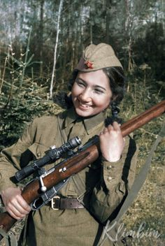 Jr. Lt. Ziba Ganiyeva - World War II female sniper, accounted for 21 kills Ганиева Зиба - снайпер Великой Отечественной войны