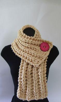 diy: chunky knit scarf