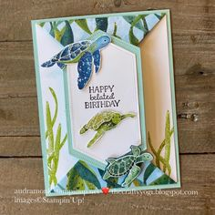 Fun Fold Cards, Folded Cards, Cool Cards, Nautical Cards, Beach Cards, Stampin Up Catalog, Shaped Cards, Bird Cards, Card Patterns