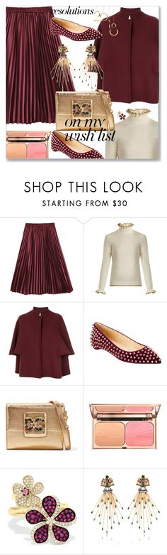 """#PolyPresents: New Year's Resolutions"" by mariamouzaki ❤ liked on Polyvore featuring Shrimps, Gianluca Capannolo, Christian Louboutin, Dolce&Gabbana, Effy Jewelry, contestentry and polyPresents"