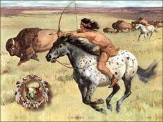 Buffalo Hunting on Appaloosa Wallpaper