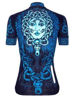 Medusa Womens Azul Ciclismo Jersey