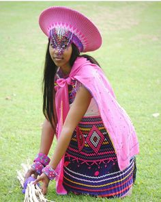 zulu dresses south africa for 2019 stylish South African Dresses, African Attire, African Wear, African Fashion Dresses, African Women, African Style, African Hats, African Outfits, African Clothes