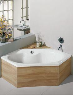 bad & heizung in Oberderdingen-Rostan-Bad / Sanitär-Badewannen-Sechseck-Oval-Stahlbadewanne von bette
