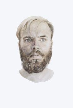 H - Terese B. Larsen  @tereseblarsen #watercolor #portrait