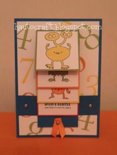 babybluegirl - Make A Monster - Waterfall Card by babybluegirl - Cards and Paper Crafts at Splitcoaststampers