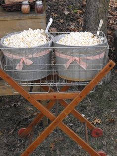 rustic wedding dessert bar | Rustic Dessert/ Popcorn Bar | All the Rage Decor