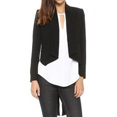 Wholesale Stylish Shawl Collar Long Sleeve Swallow-Tailed Blazer For Women Only $18.69 Drop Shipping | TrendsGal.com