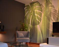 Un tuffo sul verde-2018- Il soggiorno- studio Lara Comino Plant Leaves, Curtains, Plants, Home Decor, Green, Room Decor, Draping, Home Interior Design, Drapes Curtains