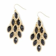 Shiny Stone Marquis Chandelier Drop Earrings