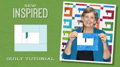 """Make a """"Sew Inspired"""" Sewing Machine Quilt with Jenny Doan of Missouri Star Missouri Quilt Tutorials, Quilting Tutorials, Sewing Tutorials, Quilting Ideas, Modern Quilting, Video Tutorials, Quilting Projects, Jellyroll Quilts, Scrappy Quilts"""