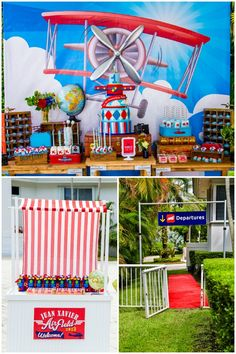 Boy's 1st Airplane Themed Birthday Party Ideas