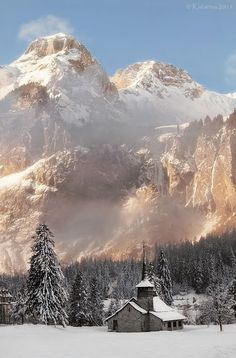 Kandersteg, Switzerland- I'm a huge fan of snowy places. This place seems perfect for my wintery outdoor soul in snow and fresh winter air.