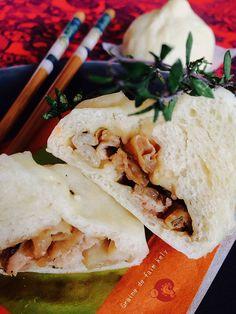 BaoZi au poulet (petites brioches vapeur garnies)
