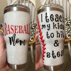 Dear Brenley, do you like to play baseball? Baseball Crafts, Baseball Mom, Baseball Season, Softball, Mom Tumbler, Tumbler Cups, Vinyl Tumblers, Custom Tumblers, Glitter Cups