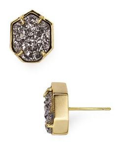 GOLD/WHITE - Kendra Scott Taylor Agate Stud Earrings | Bloomingdale's ----------- I want these stupid Kendra earrings so much that I actual feel pain. -KMH