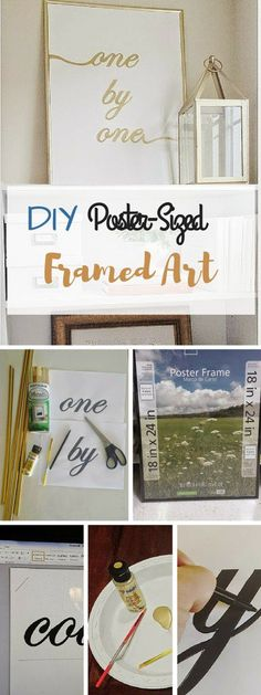 Check out the tutorial: #DIY Poster-Sized Framed Art #crafts #homedecor