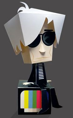 Warhol papercraft -- Made 2. Looks great on the shelf in my Warhol inspired kitchen =)