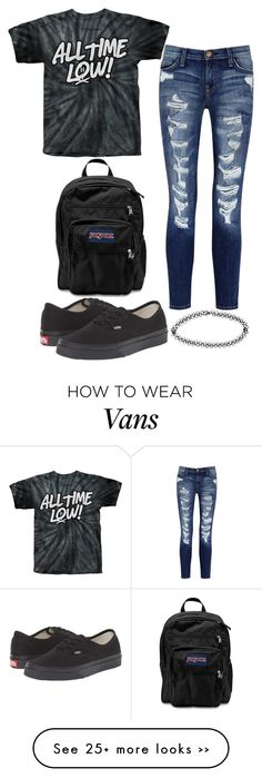 """09.02.15"" by glitter-and-coco-puffs on Polyvore featuring Current/Elliott, Vans, JanSport and Boohoo"