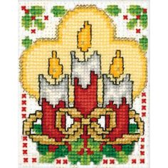 Tobin-Design Works: Ornament Counted Cross Stitch Kit. Create a holiday cross stitch image and mount it within the miniature frame! This package contains one 3x2 inch plastic frame, embroidery floss,