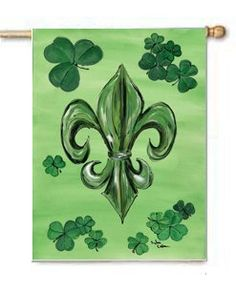 New Orleans Fleur De Lis St. Patrick's Day Large Canvas Garden Flag by Caroline's Treasures. $39.99. The Full size house flag is made from a 100% polyester heavy weight canvas material. Not your typical house flag that you might find from a mass merchant. These flags are only sold online and in specialty boutiques. This flag is much heavier than most flags currently being sold by other manufacturers. This flag is fade resistant and weather proof. The flag measures a...
