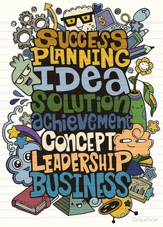 """""""hand drawing business word cloud concept with cute monsters"""" by Chris olivier Funny Monsters, Cartoon Monsters, Happy Monster, Cute Alien, Monster Illustration, Monster Characters, Monster Cards, Funny Cute, Cute Cartoon"""