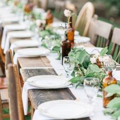This organic outdoor vineyard rehearsal dinner is loaded with natural beauty and a rustic design style.