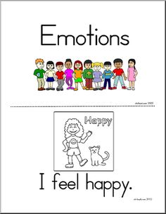 Cute booklet for young readers about emotions. Color and Read. #reading #kids #education