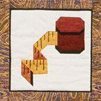 paper pieced quilt block--tape measure #needlesandnotions