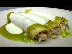 Enchiladas Suizas Recipe - Mexican Cream Sauce for Enchiladas Suizas - YouTube