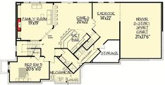 Ideas For House Simple Plans Master Suite Luxury House Plans, Dream House Plans, House Floor Plans, Luxury Houses, Architectural Design House Plans, Architecture Design, Open Family Room, Garage Interior, Cabin Plans