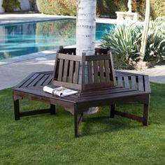 Marquee Rustic Iron Tree Surround Bench I N 3191362