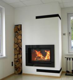 kominek nowoczesny nowoczesna obudowa kominkowa n82 Modern Fireplace, Living Room With Fireplace, Insert Stove, Stove Fireplace, Decoration Inspiration, Foyer, House Design, Interior Design, Stoves