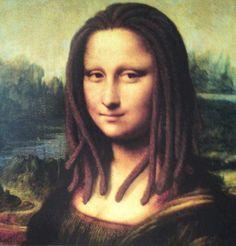 Leonardo Da Vinci - A tru Rastafarian Mona Lisa Smile, Le Sourire De Mona Lisa, La Madone, Mona Lisa Parody, Dreadlocks, Italian Artist, Many Faces, Art Graphique, Pic Monkey