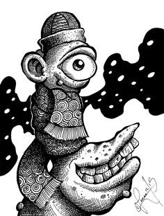 Bundled Beastie Ceciley Marlar Trippy Psychedelic Coloring Pages