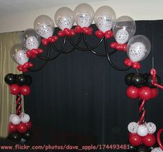 DIY balloon arch for the entrance to the yard!
