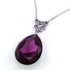 Swarovski Elements Amethyst Crystal Necklace by Fineartreflections, $36.00
