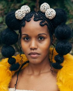 [Pics] Solange's Braids Exhibit Has Me Wishing More Adult Black Women Wore Cornrows Black Girl with Long Hair African Hairstyles, Afro Hairstyles, Black Hairstyles, Curly Hair Styles, Natural Hair Styles, Black Girl Aesthetic, Pelo Natural, My Hairstyle, Afro Punk