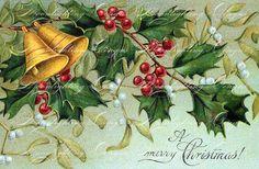 VINTAGE CHRISTMAS POSTCARD Printable Digital by MoonlightingByMary, $2.50