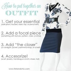 How to put together an outfit in 4 Easy steps! Get it right every time! - from the First & Chic Blog